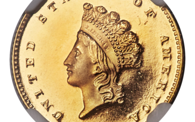 1855 Type 2 Gold Proof Dollar Best of 7 Confirmed